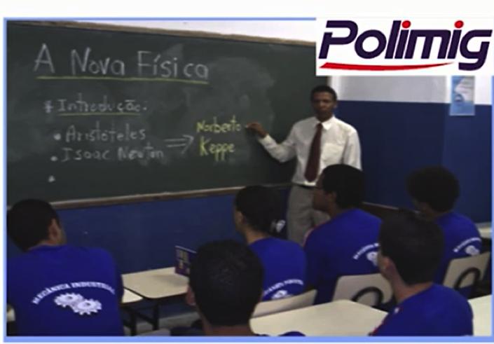 Prof. Euripes Alves, ministrando aula expositiva de Atividade Programada para alunos do curso técnico de mecatrônica da POLIMIG- Março/2010.